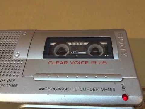 Sony Microcassette Dictator Voice Recorder Handheld Model M455
