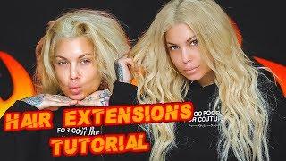 Big Beachy Loose Waves Hair Tutorial - Hair Extensions - Short hair to long hair   Bailey Sarian