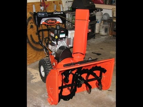 Ariens Platinum 30 snow blower chute and headlight adjustments / mods.