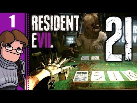 Let's Play Resident Evil 7: 21 Part 1 - Blackjack: Winner Takes All