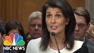 Nikki Haley Faces Questions on Russia, Muslim Registry | NBC News
