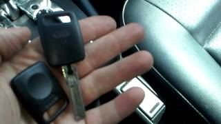 2001 Audi A4 Key Situation