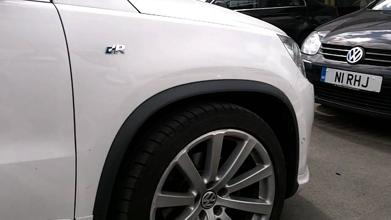 VW Tiguan R Line Lowered Suspension - YouTube