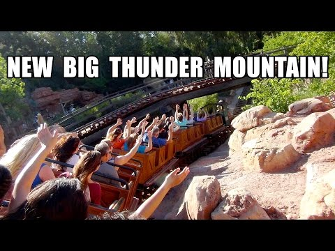 Big Thunder Mountain Roller Coaster POV New Ending 2014 Disneyland California