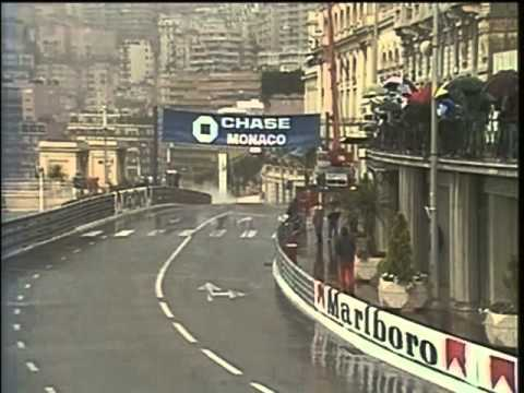 These are the last laps of the Monaco Grand Prix in 1984. Ayrton Senna keeps closing in on Alain Prost, only to be denied his win by the officials, who sudde...