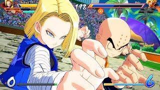 DRAGON BALL FighterZ - Krillin, Android 18, Trunks VS Gohan, Goku, Vegeta @ 1080p (60ᶠᵖˢ) HD ✔