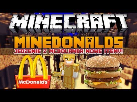 Minecraft 1.8 Mody MineDonalds Mod Jedzenie z McDonalda Nowy Świat Itemy Moby