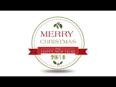 How to make a merry christmas 2018 label in adobe illustrator tutorial