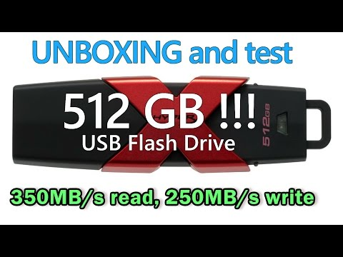 UNBOXING 512 GB Kingston HyperX Savage USB 3.1 flash drive 350MB/s read, 250MB/s write