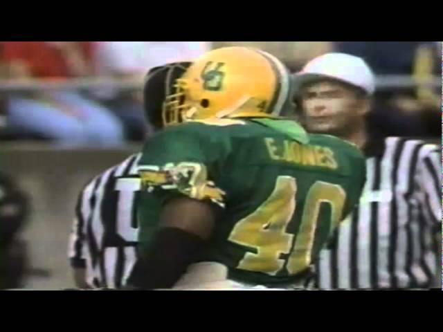 Oregon LB Ernest Jones sacks WSU QB Drew Bledsoe 9-07-1991