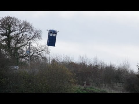 Life size Doctor Who Flying Tardis!