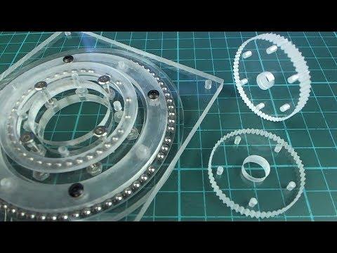 DIY mini CNC machine part 16 (acrylic gears/bearings)