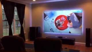 Screen Innovations Black Diamond Zero Edge Screen and Epson 5030UB Projector Part 2