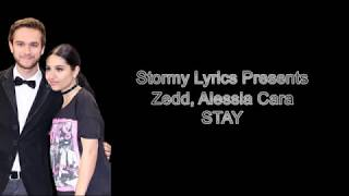 Zedd, Alessia Cara - Stay [lyric video]