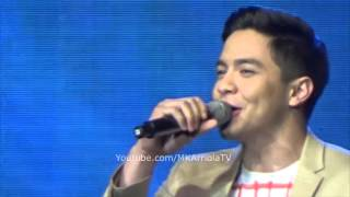 Aldub Alden Richards sings Wherever You Willl Go at TNT on MOA Arena