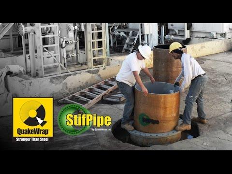 Pressure Pipe Repair with StifPipe Aguirre Plant Puerto Rico