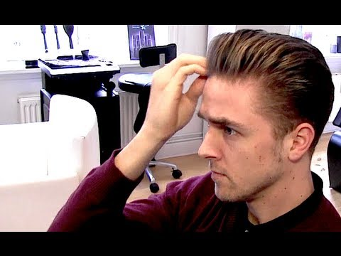 Mens Classic Rockabilly Hairstyle Blowdryer Tutorial