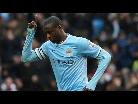 Yaya Touré | Manchester City | Barclays Premier League | All Goals 2013-2014 |