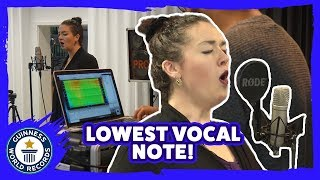 Lowest vocal note sung (female) - Guinness World Records