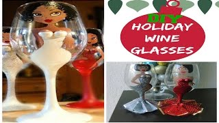 DIY Holiday Glitter Wine Glasses  Recreation Re-creation #4