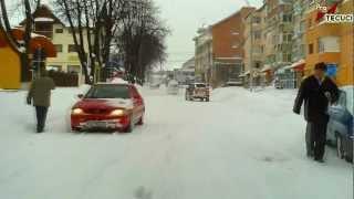 Tecuci - Viscolul din luna februarie 2012