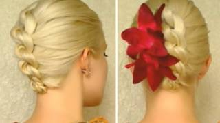 Knot braid prom hairstyle for medium long hair tutorial Elegant wedding updo
