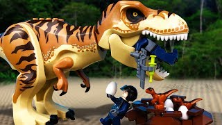 Jurassic World LEGO 🔴 Indoraptor vs Indominus Rex- 7🦖 PL Movie