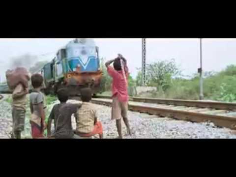 Train accident: Slum boys funny prank