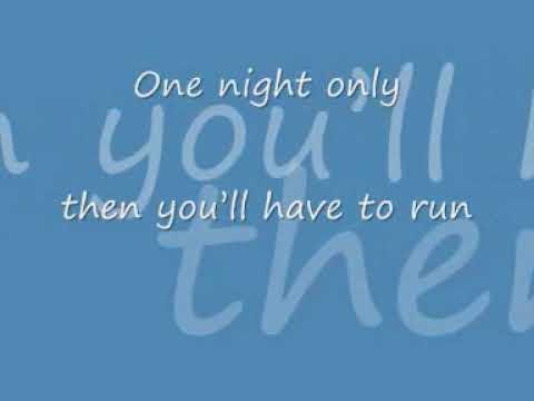 Jennifer Hudson one night only with lyrics