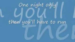 Jennifer Hudson Video - Jennifer Hudson one night only with lyrics