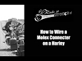 How to Wire a Molex Connector on a Harley Davidson