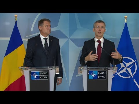 NATO Secretary General with President of Romania - Joint Press Point - 16 JAN 2015