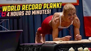 Dana Glowacka World Record PLANK 4 Hours & 20 Minutes!
