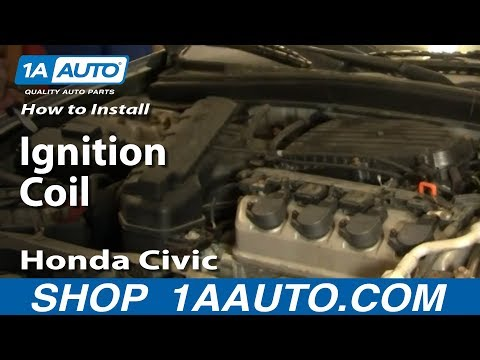 How to Install Replace Ignition Coil Honda Civic 01-05 1AAuto.com
