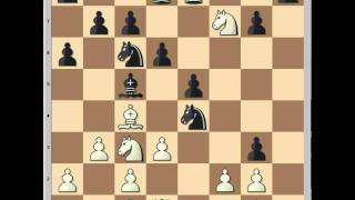 Attacking chess: Black plays aggressively