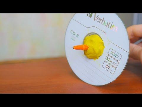 CDとペンを使ってこまを作る斬新なアイデア!