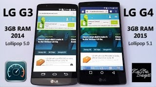 LG G3 vs LG G4 Speed Test - apps and web loading time