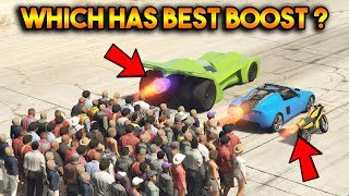 GTA 5 ONLINE : VIGILANTE VS OPPRESSOR VS ROCKET VOLTIC (WHICH HAS STRONGEST BOOST?)