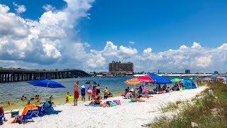 Okaloosa Island Beach in Florida 4K