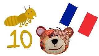 Bis 10 zählen lernen für kinder und kleinkinder im französisch bis