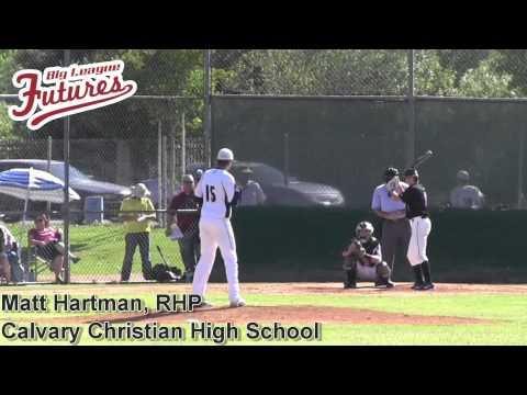 Matt Hartman Prospect Video, RHP, Calvary Christian High School CF
