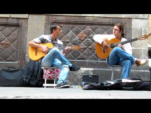 Flamenco Guitar. Barcelona street music (HD) Music Videos