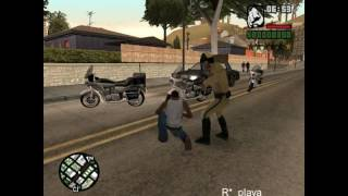 GTA SA - BUSTED AND WASTED IN GTA 5 STYLE!!