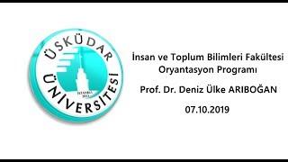 Prof. Dr. Deniz Ülke Arıboğan / İTBF Oryantasyon Proframı
