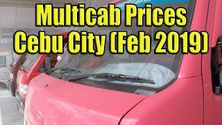 Multicab Prices In Cebu (Feb 2019)