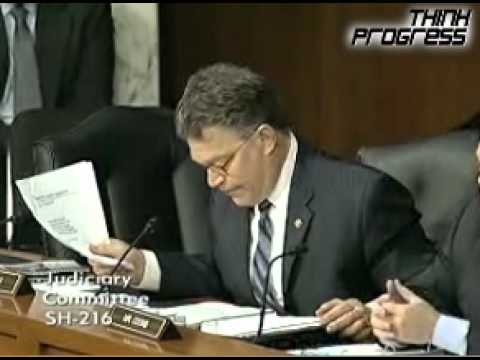 Franken Destroys Focus On The Family Witness