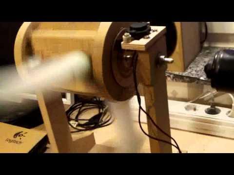Flettner Rotor Pinwheel Model (Magnus Effect)