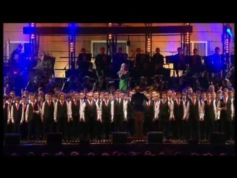 Only Boys Aloud performing for the Royal Family in the gardens of Buckingham Palace in the Festival Concert celebrating the 60th Anniversary of the Coronation of Queen Elizabeth II. The boys...