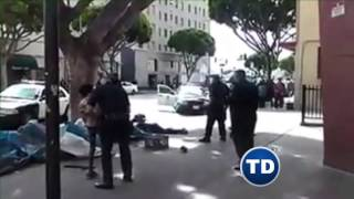 Muere un Homeless a manos de Los Angeles Police