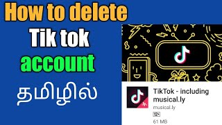 how to delete tik tok account in tamil